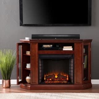 Harper Blvd Belvedere Cherry Media Console Fireplace|https://ak1.ostkcdn.com/images/products/6228267/P13871297.jpg?impolicy=medium