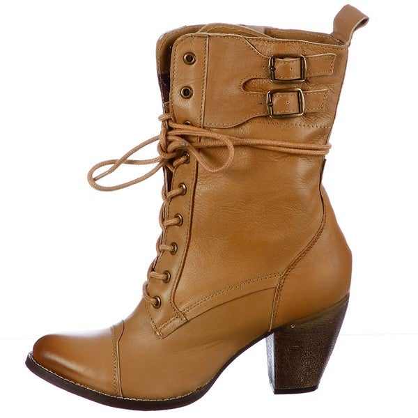MIA Women's 'Nanette' Lace- up Leather Boots