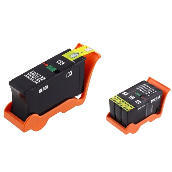 INSTEN Black and Color Ink Cartridges for Dell V515/ V515W (Pack of 2)