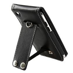 INSTEN Leather iPod Case Cover/ Mirror Screen Protector for Apple iPod Touch 4th Gen - Thumbnail 1