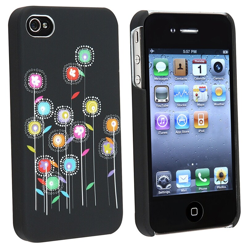 Slim-fit Rubber Coated Case for Apple iPhone 4