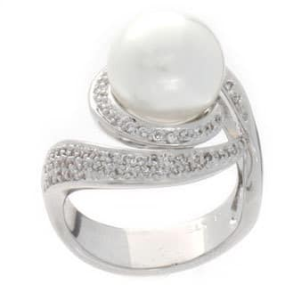 NEXTE Jewelry Silvertone White Faux Pearl and Cubic Zirconia Ring|https://ak1.ostkcdn.com/images/products/6229780/NEXTE-Jewelry-Silvertone-White-Faux-Pearl-and-Cubic-Zirconia-Ring-P13872456.jpg?impolicy=medium