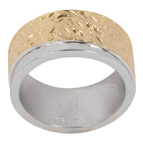 NEXTE Jewelry Twotone Two Textured Band