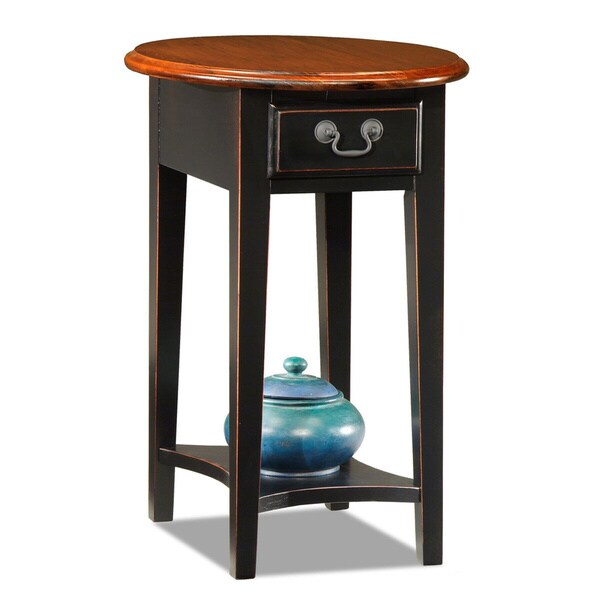 Good Hardwood Oval Side Table   Free Shipping Today   Overstock.com   13872888