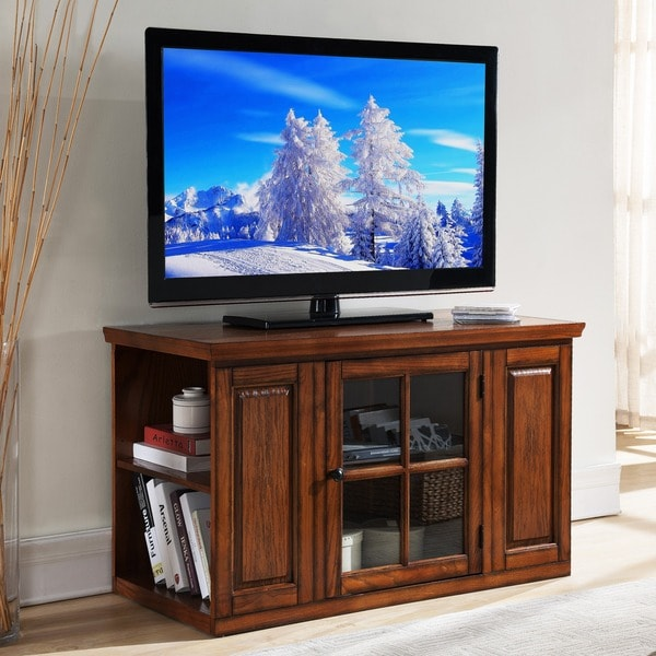 Shop Oak 42 Inch Bookcase Tv Stand Amp Media Console Free