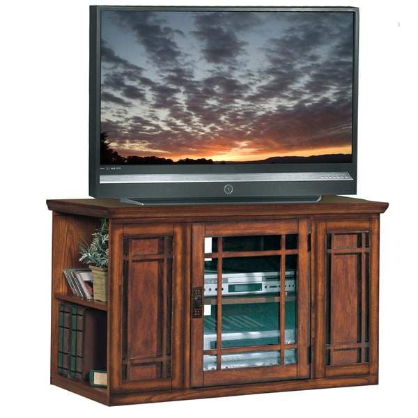Mission Oak 42-inch Bookcase TV Stand & Media Console