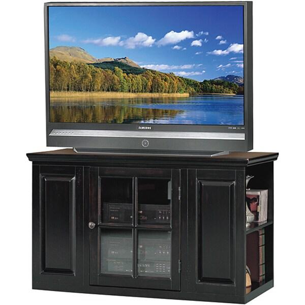 Rubbed Black 42-inch Bookcase TV Stand & Media Console