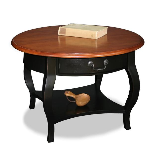 Solid Wood Curved Coffee Table: Shop Brown Cherry/ Slate Solid Wood Coffee Table