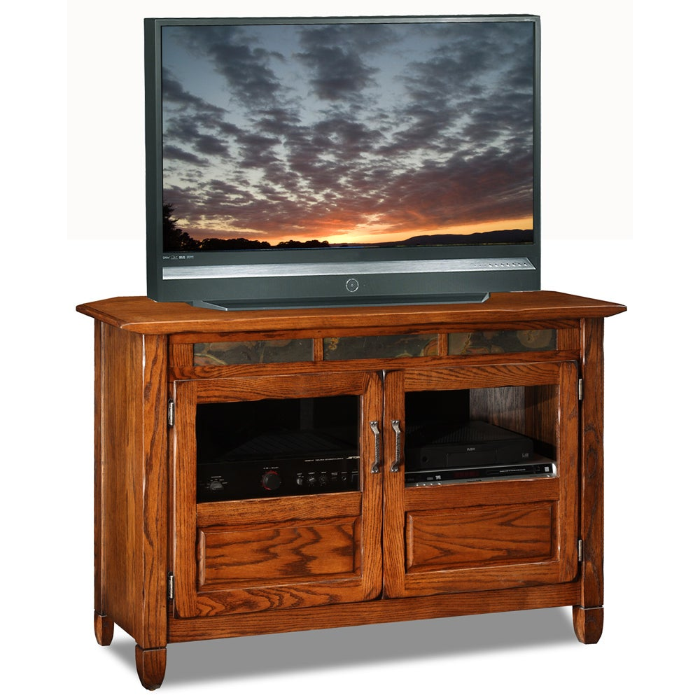 Rustic Oak/Slate 46-inch TV Stand & Media Console