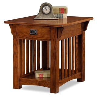 Solid Oak Mission Sienna Drawer End Table