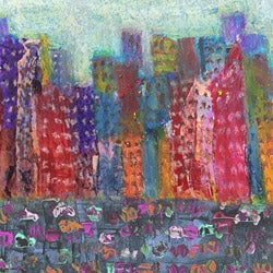 Ankan 'Colorful City 4' Gallery-wrapped Canvas Art