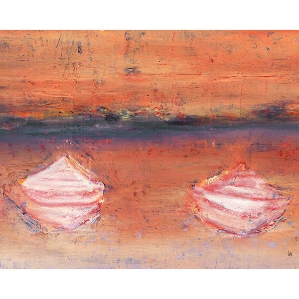 Ankan 'Canoes 4' Gallery-wrapped Canvas Art