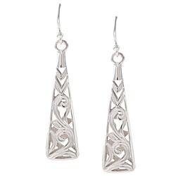 La Preciosa Sterling Silver Floral Design Earrings