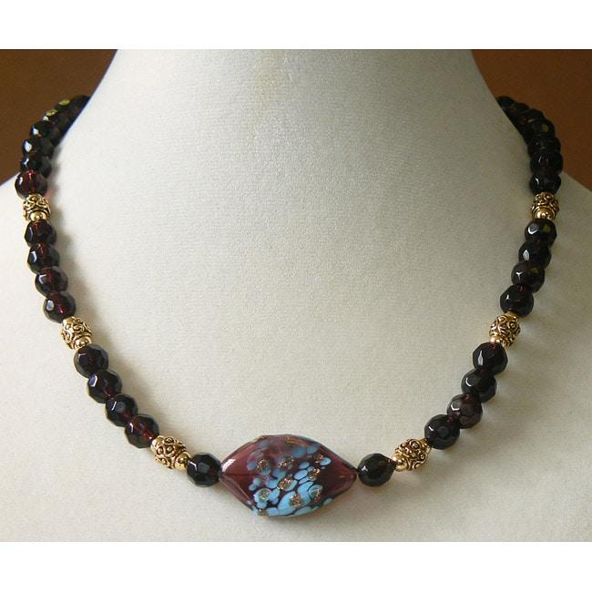 Plum Glace' Necklace