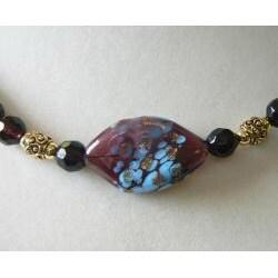 Plum Glace' Necklace - Thumbnail 1