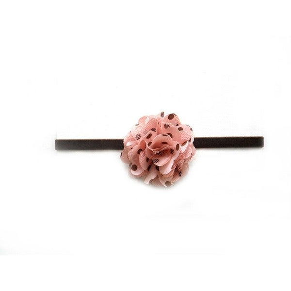Pink and Brown Flower Headband