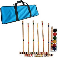 Trademark Games Complete Croquet Set with Carrying Case - Thumbnail 0
