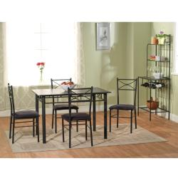 Simple Living Valencia 6-piece Metal Dining Set with Baker's Rack