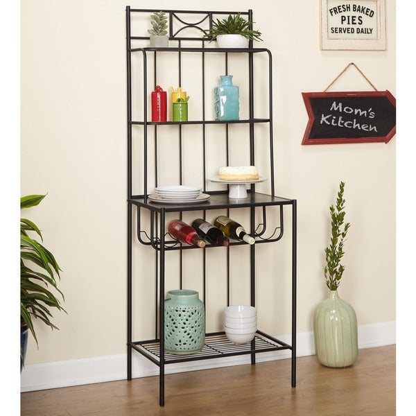 Simple Living Valencia 6 Piece Metal Dining Set With Bakeru0027s Rack   Free  Shipping Today   Overstock.com   13873173