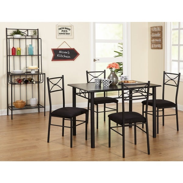Simple Living Valencia 6 Piece Metal Dining Set With Bakeru0026#x27 ...