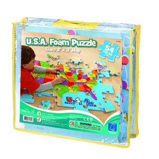 USA Foam Map Floor 54-Piece Puzzle