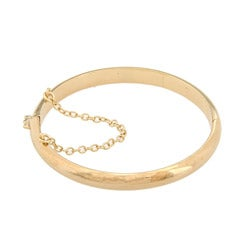 Sterling Essentials 14k Gold Overlaid Silver 7 Inch Polished Bangle Bracelet (5mm)