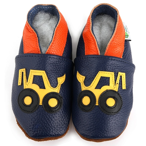 Yellow Truck Leather Boy's Shoes