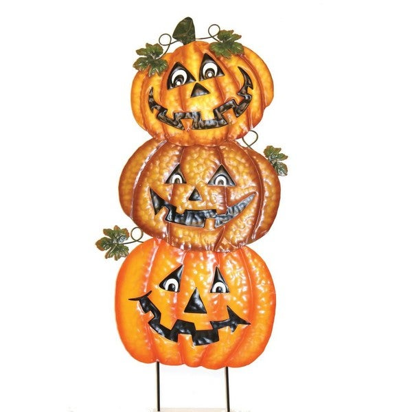 pd home garden halloween jack o lantern stack yard decor - Pd Home And Garden