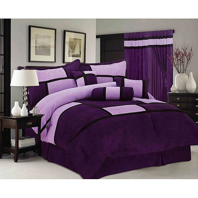 Chelsea Contemporary Microsuede 7 Piece Comforter Set
