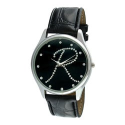 Viva Women's Silvertone Round Dial Initial 'R' Watch