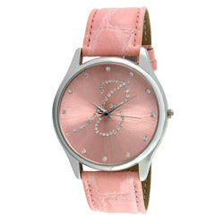 Viva Women's Silvertone Round Dial Initial 'B' Watch