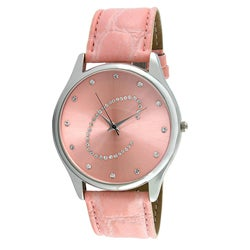 Viva Women's Crystal Initial 'C' Pink Watch