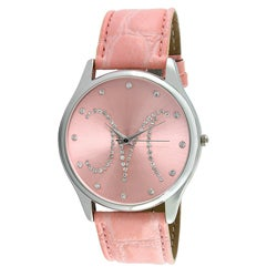Viva Women's Crystal Initial 'M' Pink Watch