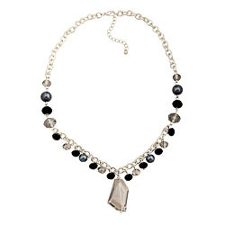 Alexa Starr Faux Pearl and Crystal Necklace
