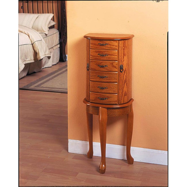 Oak Jewelry Armoire