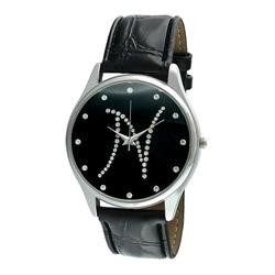 Viva Women's Crystal Initial 'N' Black Watch
