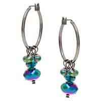 Linear Sea Life Wheel Charm Drop Earrings