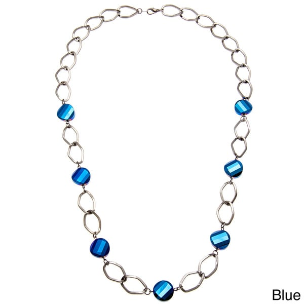 Alexa Starr Glass Bead Chain Link Necklace