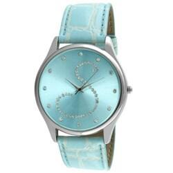 Viva Women's Crystal Initial 'S' Blue Watch