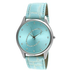 Viva Women's Crystal Initial 'C' Blue Watch