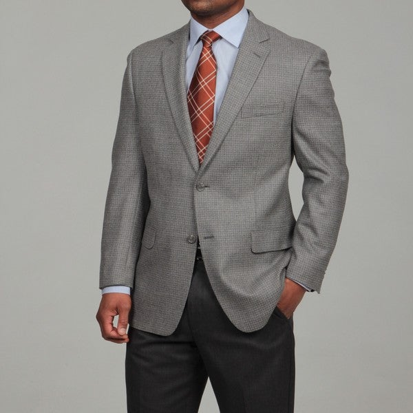 MICHAEL Michael Kors Men's Grey Two-button Lambswool Sport Coat