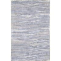 Hand-knotted McKinney Abstract Design Wool Area Rug - 5' x 8'