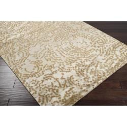Hand-knotted Annapolis Abstract Design Wool Rug (9' x 13') - Thumbnail 2