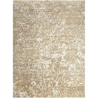 Hand-knotted Annapolis Abstract Design Wool Area Rug - 9' x 13'