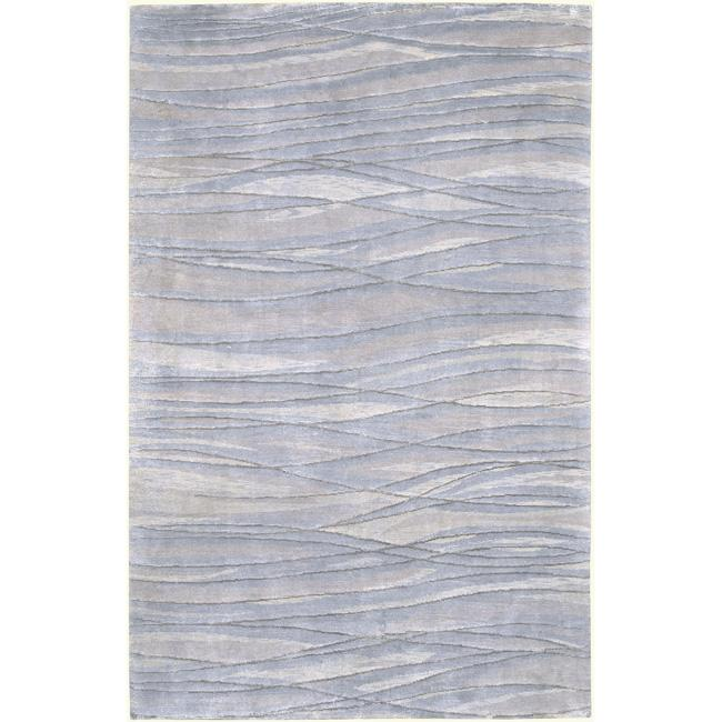 Hand-knotted McKinney Abstract Design Wool Area Rug - 8' x 11'