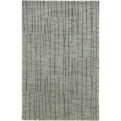 Hand-knotted Warren Abstract Design Wool Rug (9' x 13')