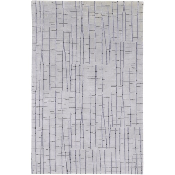 Hand-knotted Warren Abstract Design Wool Area Rug - 9' x 13'
