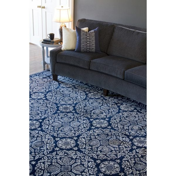 Collection Hand-tufted Topeka Oriental Pattern WoolRug (8' x 11')