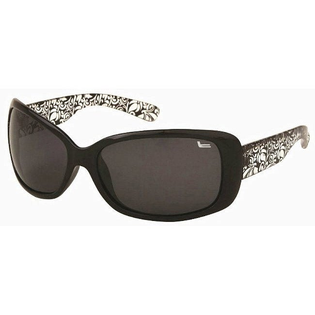 Coleman Women's CC1 Black/ Clear Polarized Sunglasses