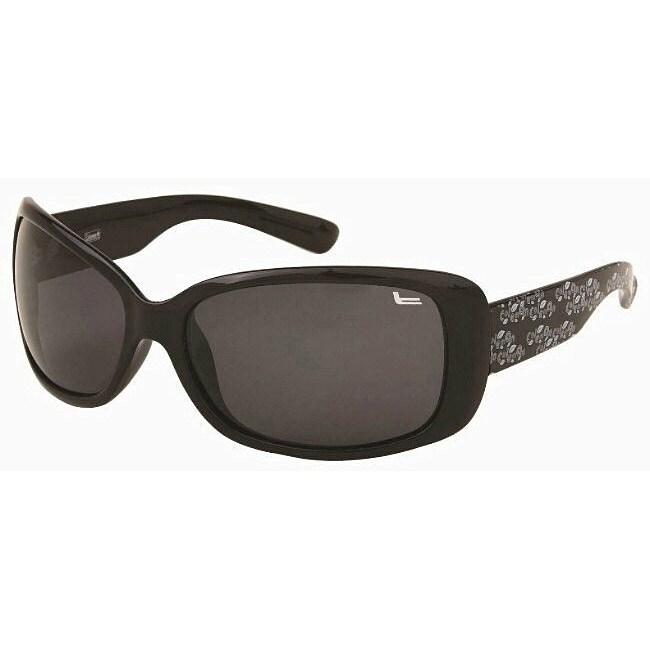Coleman Men's CC1 Black/ White Polarized Sunglasses
